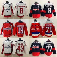 8 Alex Ovechkin Trikot Washington Capitals 19 Nicklas Backstrom 70 Braden Holtby 43 Tom Wilson 77 T.J. Oshie Hockey Trikots
