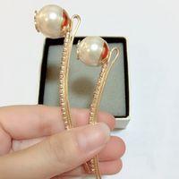Fashion Big Pearl Hair Clips Acqua Drill Taillini ONE WORD Clip per la collezione delle signore Head Ornaments VIP Regalo