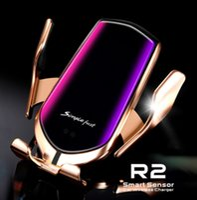 R2 스마트 센서 유도 차량 아이폰 X XR XS 최대 S10 무선 충전기를 장착 플러스 빠른 보류 에어 벤트 전화 홀더 스탠드 충전