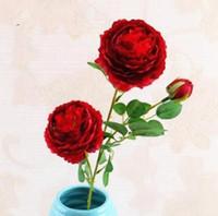 Искусственная роза шелковый цветок реальный прикосновение пион декоративные цветы партии поддельные свадьбы невесты букет оформление 22 цвета LXL995