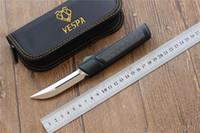 VESPA Ripper Doppelklappklinge: M390 (Satin) Griff: 7075Aluminum + CF, das Überleben im Freien kampierende Messer EDC Werkzeuge, freies Verschiffen