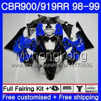 Bodys per HONDA CBR 919RR CBR 900RR CBR919RR 1998 1999 278HM.40 CBR900RR CBR 919 RR CBR900 RR CBR919 RR 98 99 Kit carenatura blu nero lucido