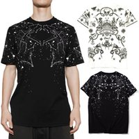 Constellation T-shirt T-shirt pour Mens Crew Col Coton à manches courtes Loisirs Coton Tee Homme Skinny Fit