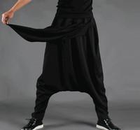 Plus La Taille Hommes Casual Drapé Gorge Crotch Sarouel Hip Hop Pantalon Pantalon Baggy Danse Pantalon De Danse Gothique Style Punk Harem Pantalon Hommes