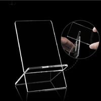 5.5x11.5 cm Universal Clear Transparent Plasty Plasty Supporto visualizzato Stand mostrato per il telefono cellulare DHL
