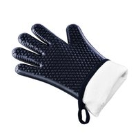 Высокая температура духовки перчатки Микроволновая перчатки Anti-обжигающий жаростойкие перчатки Нескользящие силиконовые Рождественские перчатки Кухня Готовим инструмент VT0526