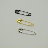 drei Farbe silber schwarz gold mini vernickelte Sicherheitsnadeln 4/5 '' Länge (18 mm) Großhandel für Bekleidung Fallumbau