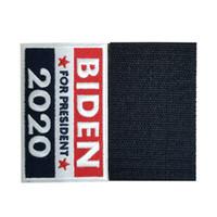Trump Biden Etiqueta engomada mágica 2020 la elección americana bordado pegatinas EE.UU. bandera rayada protagoniza la etiqueta engomada para la ropa y la bolsa 5 * 8cm LJJA4105