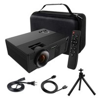 Video Projector 2400 Lumens Mini Projector with Stand Theate...