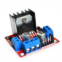 Envío gratuito 10 unids / lote Nuevo Dual H Bridge DC Stepper Motor Drive Controller Board Module L298N