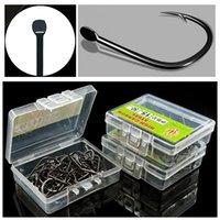 1000 stücke / 10 box 3-12 # Schwarz Ise Haken Kohlenstoffstahl Widerhaken Angelhaken Angelhaken Pesca Karpfen Angelgerät Zubehör