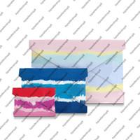 M69119 Escale Pochette Kirigami Mujeres Canvas Tres bolsas de estilo de envoltura Embrague Tie-Dye Real Becerma de cuero de cuero de cuero Bolso Bolsa de billetera XGNVQ