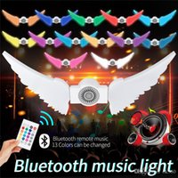 50W RGBW Foldable Angel Wing LED E27 Bulb Lamp Wireless home Lighting lamp Bluetooth 4.0 Smart IR Remote Music Player Dimmable Lamp