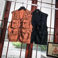 2020 Sommer-Männer Weste Designer Retro Männer Weste vestidos de verano Camouflage Tooling Ärmel Precision Stickerei UK GRÖSSE All-Match Tops