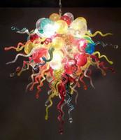 110 / 220В AC водить Большой партии украшения Спальня Mini Люстра Освещение Bubble муранского стекла Подвеска Лампы