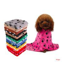 60 * 70 cm Manta para mascotas Pequeña toalla de la impresión de gato perro de felpa suave más cálidas preciosas Mantas Almohada Manta perro malla para cubrir 22 Colores DBC BH3013