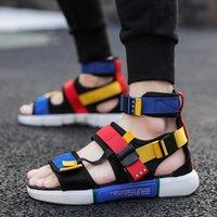 رجال الصيف يرتدون أحذية عالية الصندل الموضة رجال الصندل الشاطئيين الأحذية العارضة في الهواء الطلق Non-slip-sandals Dropping AODLEE