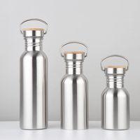 Mode grande capacité Bouteilles d'eau Big Bouche Acier inoxydable Simple Couche bouteilles bouteilles bouilloires vélo extérieure 12oz 17oz 25oz VT0238