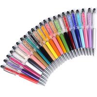 Pen toque criativo 24 cores Bling Cristal caneta esferográfica criativo Pilot Stylus para Writing Stationery Office presente estudante da escola