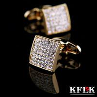KFLK Bijoux cufflink shirt français pour designer hommes Marque lien Manchettes Bouton d'or de haute qualité des hommes de mariage de luxe Livraison gratuite CJ191116