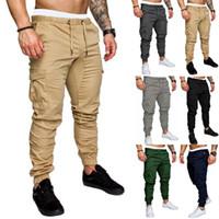 Мода мужские тощие городские прямые брюки-карго брюки ноги случайные карандаш Бегун тактические брюки-карго мужские армейские брюки