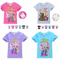 JOJO Siwa Cotone Stampa T-shirt per le ragazze Estate manica corta T-shirt bambini ragazza Tees Teens Top Abbigliamento bambini abbigliamento per bambini KKA6977