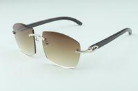 óculos de sol novos quentes A4189706-5 naturais templos chifre preto selvagens, Fábrica de qualidade superior direto óculos de moda unissex