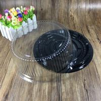 grande boîte à gâteau rond / 8 pouces boîte de fromage / clair récipient à gâteau en plastique / grand porte-gâteau Livraison gratuite