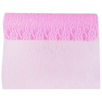 ABFY-Roll 22m Lace para Couture Craft Wedding Decoration - rosa