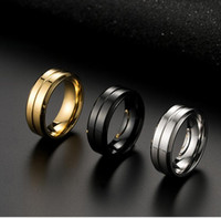 8mm Gold Color Tungsten Carbide Wedding Band Ring for man Hi...