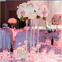 Wedding decoration Acrylic geometric road Transparent Flower stand table decoration Bride party decot 3acrylic plinth