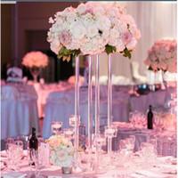 Decoração do casamento Acrílico estrada geométrica Flor Transparente suporte de mesa decoração noiva partido decot 3acrylic plinto