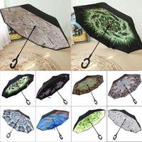 Ters Şemsiye Ters Şemsiye Şemsiye C Kol Windproof Yağmur Araç Şemsiyeler İçin Kadınlar Standı Can
