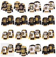 Boston Bruins Jersey 37 Patrice Bergeron 88 David Pastrnak 63 Brad Marchand 4 Bobby Orr 40 Tuukka Rask Zdeno Chara Jake Debrusk Hockey
