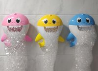 Baby Shark Bath Bubble Maker con musica Baby Kids Bath Toy Pool Swimming Vasca da bagno Soap Machine Pinkfong Baby Shower Toy