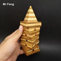 회전 대나무 타워 중국어 마인드 게임 마술 퍼즐 모델 Brainteaser 지능 장난감 어린이 (모델 번호 B344)