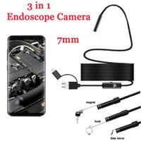 7 미리 메터 3 1 내시경 카메라 USB 미니 캠코더 방수 6 내시경 검사 카메라 내시경 안드로이드 스마트 폰