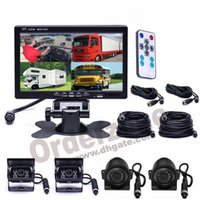4x 4Pin IR Waterproof HD CCD Car Front Side  Rear View Camer...