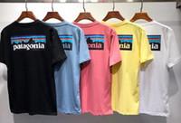 Marka t gömlek patagonia Tişört Kol Tee Nefes Erkekler Kadınlar Aşıklar Moda erkekler kadınlar tişörtler