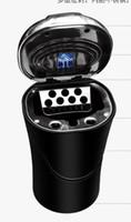 커버 크리 에이 티브 자동차 공급 다기능 재떨이 서스펜션 타입은 경 자동차 보편적 인 성격 재떨이를 LED