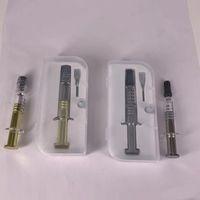 1ML Luer-Lock-Metall-Dreh Plunger Glasspritzen mit Maßmarkierung Für Ölpatrone vape Patronen 100% Authentic