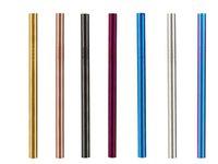 Aço inoxidável 12mmx215mm Palhinha Ampla atacado longo reutilizável Fat metal Smoothie palhas Fábrica