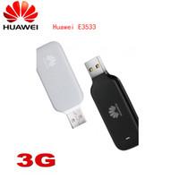 Mini Unlocked Huawei E3533 21m USB 3G HSPA + UMTS 2100MHz USB Stick Wireless Modem med SIM-kortplats Mobilt Broadband