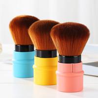 Mini Makaralı Vakfı Makyaj Pudra Allık Güzellik Fırçalar Seyahat Kozmetik Allık Yüz Pudra Fondöten Fırçası Makyaj Aracı