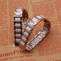 Seramik ve paslanmaz çelik kordonlu saat, beyaz ve Gül altın saat bant 16mm 18mm 20mm 22 mm saat kayışı aksesuarları Kelebek toka toka