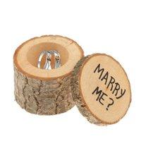 Bague de mariage rustique Bearer Boîte personnalisée mariage Boîte de bague Nous Do Cadeaux de mariage Porte-anneau en bois Boîte RRA2062