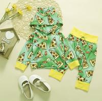 Çocuklar Hoodie ve Pantolon Tasarımcı İki Adet Set Çocuk Pamuk Spor Suit bebek Boy Kız Sonbahar Kapşonlu Triko Giyim