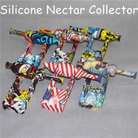 di vendita calda del silicone Nettare collettore con 10 millimetri in titanio Consigli Keck clip contenitore di vetro del silicone Reclaim adattatore Catcher for Smoking