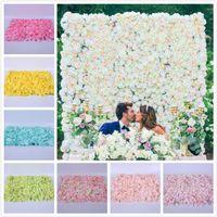 60 * 40 cm de la pared de flores de seda artificial flor de pared seca contexto de la boda del partido decoración de flores decoración de la pared de fondo del hotel del camino del LED