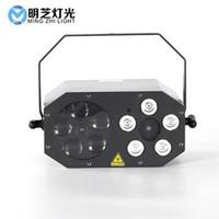 MFL E308 Mini 5 * 3W LED de la etapa del partido de DJ de la luz laser Gobo estroboscópico 3en1 Efecto de luz para el disco